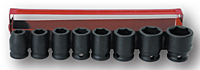 Impact Socket Kit: 8 Sockets (SIS-3306 and SIS-3305)