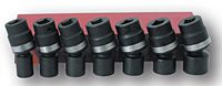 Impact Socket Kit: 7 Universal Joints (SIS-4408 and SIS-4407)